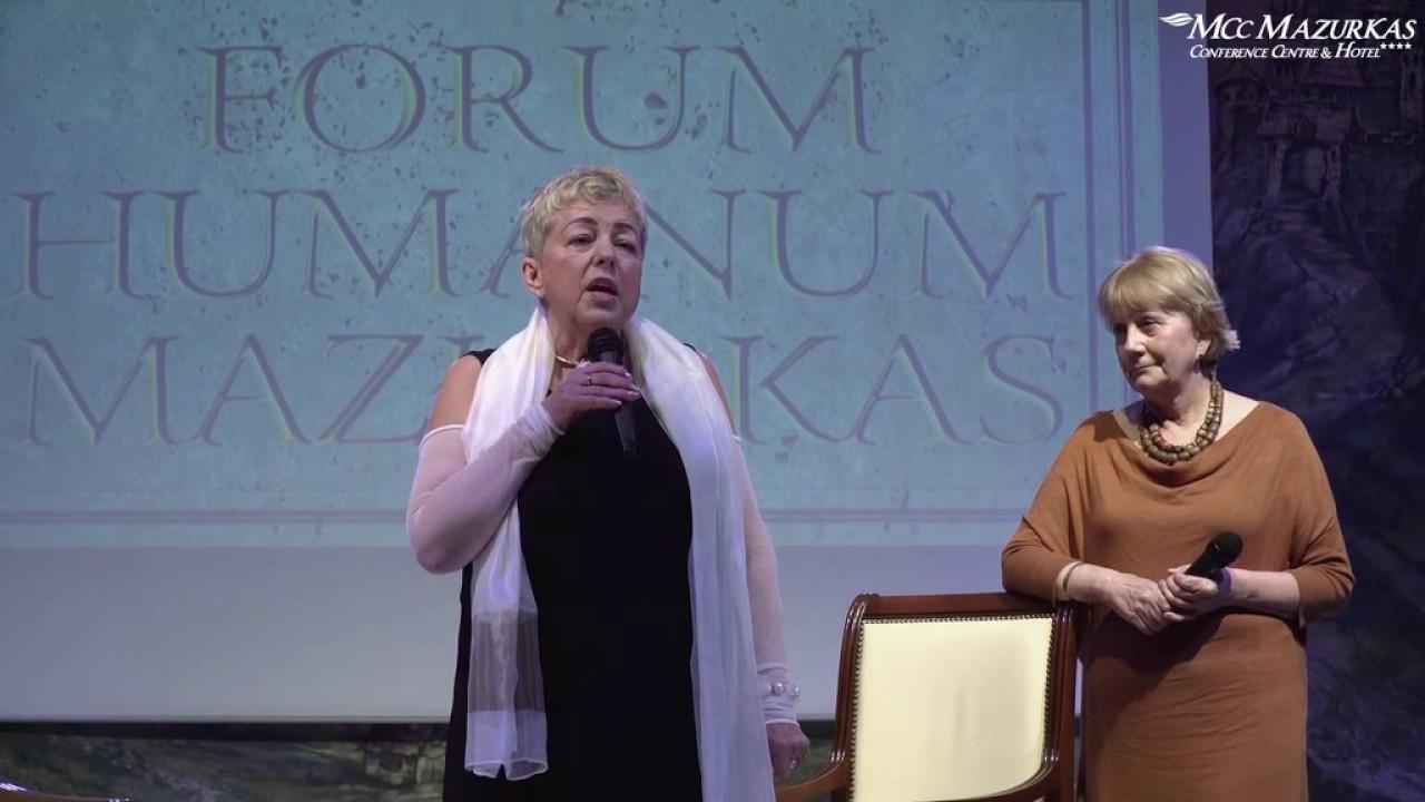 XXIII Forum Humanum Mazurkas -Janina Tuora - kurator i Anna Lenkiewicz - artystka malarka