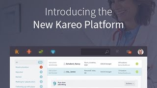 Kareo delivers the first and only complete technology platform purpose-built to meet needs of independent practices. now, physicians can effortlessly man...
