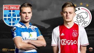 Stefan Vellinga – Dani Hagebeuk | PEC Zwolle - Ajax | Speelronde 18 | E-Divisie
