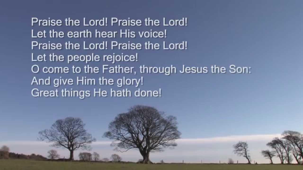 基督教聖歌:榮耀歸與真神 (To God be the glory) - YouTube