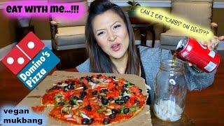 DOMINO'S PIZZA MUKBANG • vegan