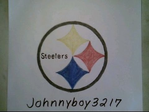 How To Draw Pittsburgh Steelers Logo Sign Easy Step By Step Tutorial