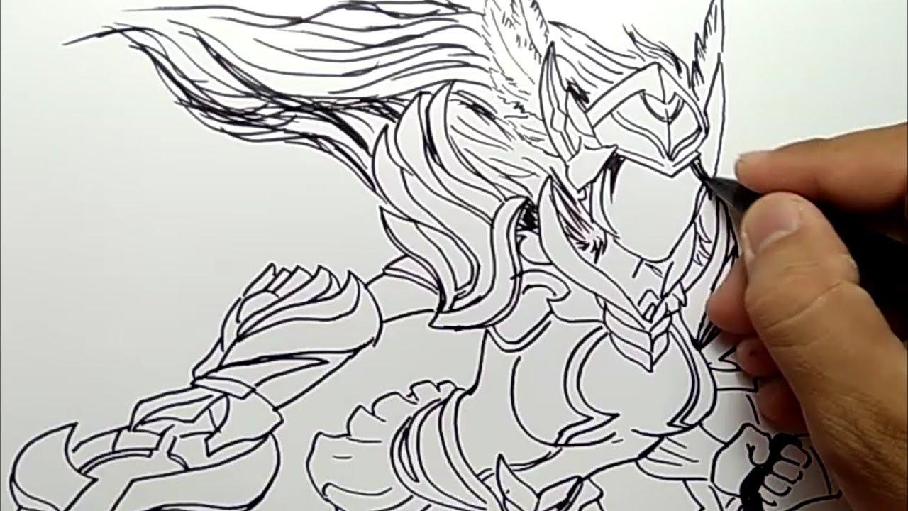 KEREN cara menggambar FREYA mobile legend how to draw FREYA mobile legend