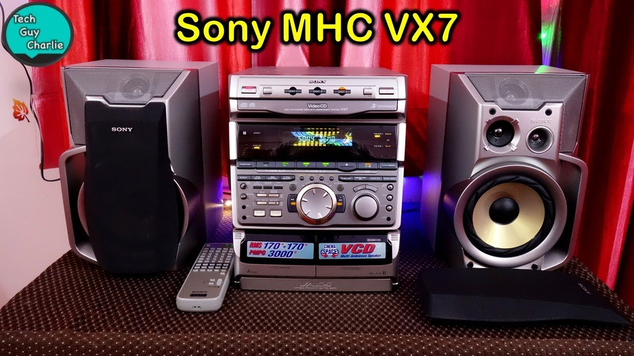 Sony MHC VX7 Mini Hi Fi component system from 1999 unboxing and sound test