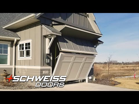 Hydraulic bifold doors by schweiss opening and closing for How tall is an rv garage door