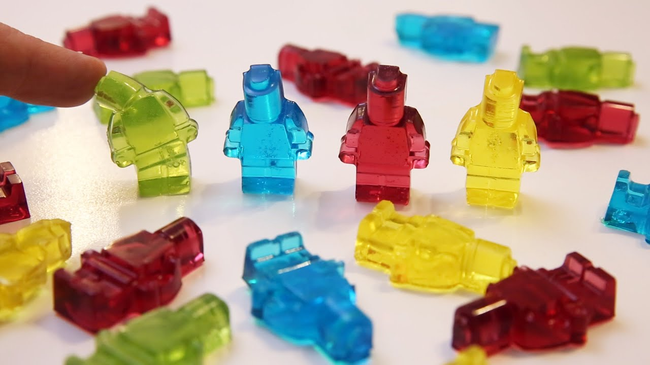 Lego Toy Food : Gummy lego minifigures food toys how to make it youtube