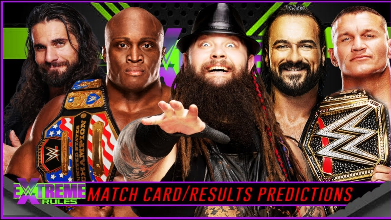 WWE EXTREME RULES 2020 MATCH CARD & RESULTS PREDICTIONS | Extreme rules 2020 Predictions |