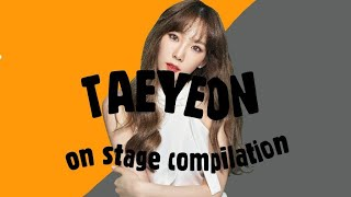 TAEYEON ON THE STAGE COMPILATION