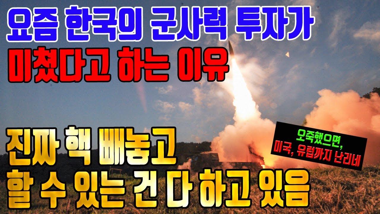요즘 한국의 군사력 투자가 미쳤다고 하는 이유 (핵 빼고 할 수 있는 건 다 함)