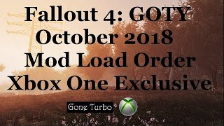 Fallout 4- October 2018 Balanced Load Order- Xbox One
