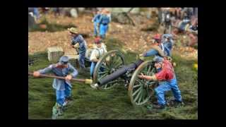 Military Miniatures - Video Gettysburg - American Civil War 1863 General Lee