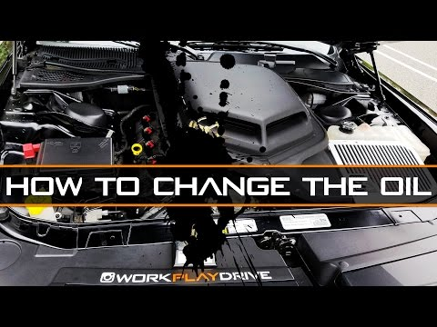 How to properly Jack and change the oil - Challenger Scat Pack 6 4L - 392 Hemi
