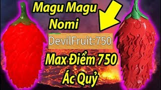 Roblox-Magu Magu Nomi Ultimate Strength Full Demon 750 Points | Steve's One Piece