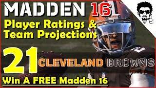 No Question, Start Johnny Manziel | Madden 16 Player Ratings and Team Projections - CLE