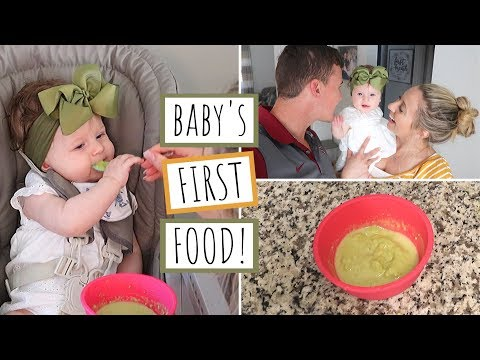 BABY'S FIRST SOLID FOOD! | AVOCADO PUREE | Homemade Baby Food | 6 Months Old