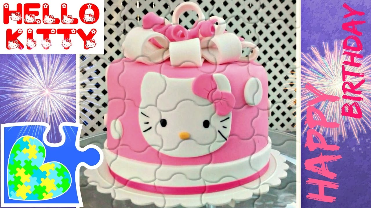 HELLO KITTY CAKE PUZZLE GAME FOR KIDS Rompecabezas de Hello Kitty