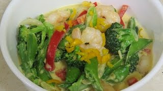 Coconut Prawn/shrimp Curry With Home Grown Spice & Veggies..