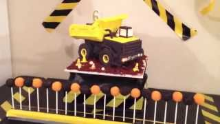 Dump Truck Cake with Flashing Lights