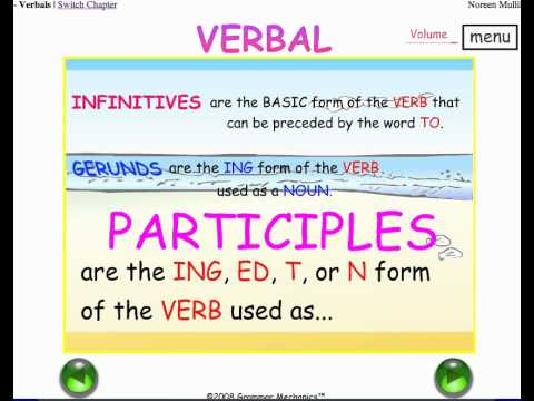 INFINITIVES, GERUNDS, PARTICIPLES - 3 VERBALS - COMMON CORE LITERACY - GRAMMAR and PUNCTUATION - By englishgrammarhelp