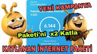 Turkcell  Katlanan İnternet Paketİ 2019   Yenİ Çikan