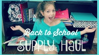 Back to School Supplies Haul 2015 | Annie