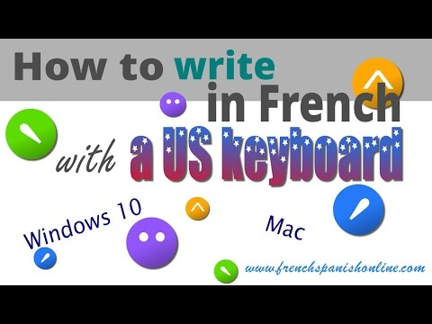 How to write in French with a US keyboard