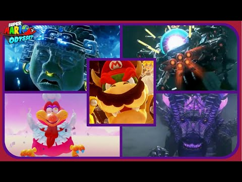 Super Mario Odyssey: All Boss Rematch Encounters-Perfect