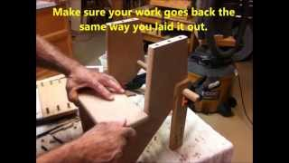 Woodworking Trick, Lining up Dowels the easy way 3 min video