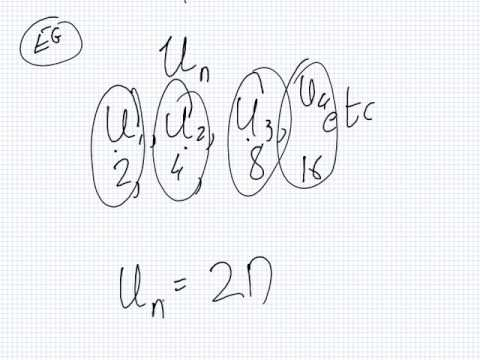 Mathematics for Science   Lesson   Sequence and Series   General Formula