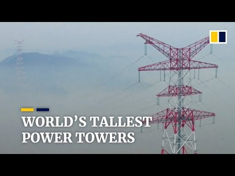 World's tallest electricity towers undergo final check in China