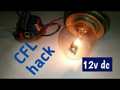 cfl circuit hack everyone should know - dc 12 volt supply