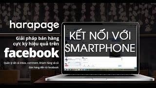 Haravan | Hướng dẫn kết nối Fanpage với Harapage trên điện thoại - Bán hàng trên facebook