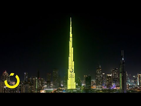 noon Takes Over Burj Khalifa, NYE 2017