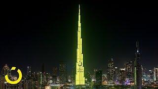 noon Takes Over Burj Khalifa, NYE 2017