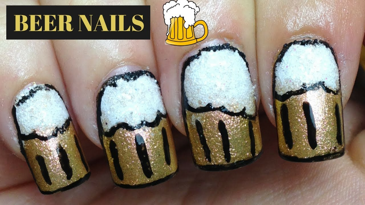Beer Nails | Father\'s Day Nails - YouTube