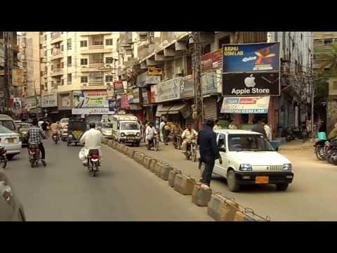 Hyderabad Sindh Pakistan drivethrough (20 mins) SAM 1184