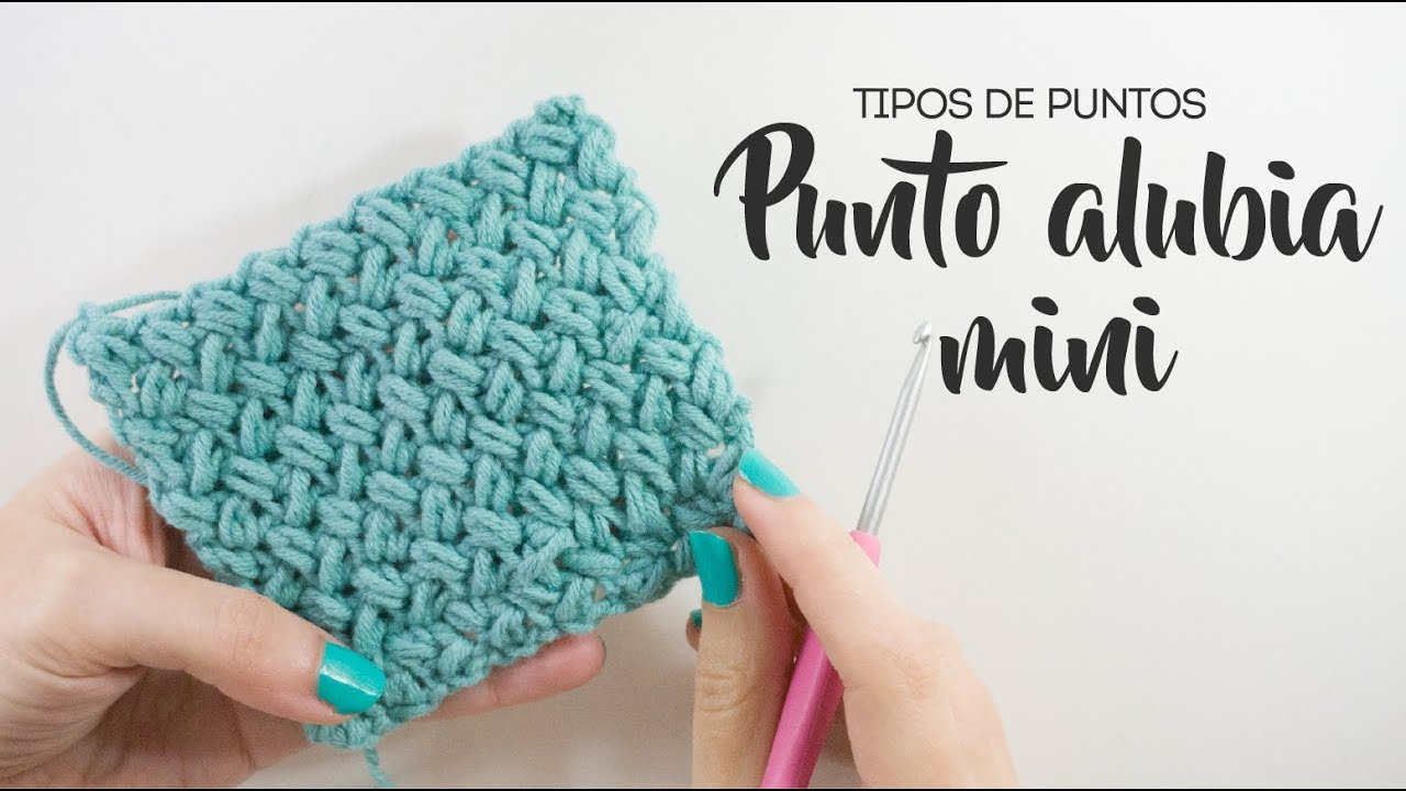 Punto alubia a crochet - Minibean stitch - Puntos de ganchillo - YouTube