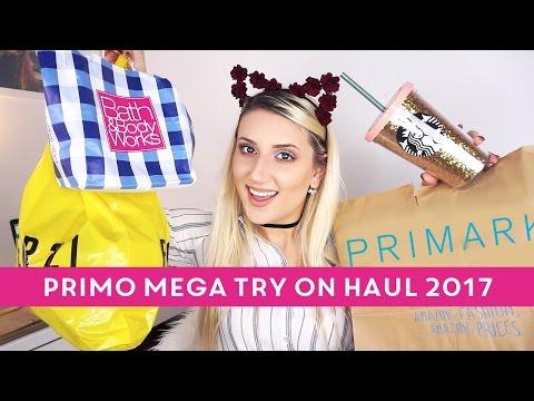 PRIMO TRY ON HAUL 2017 CON TUTTI I PREZZI! 😍 PRIMARK, STARBUCKS, F21, BATH & BODY WORKS