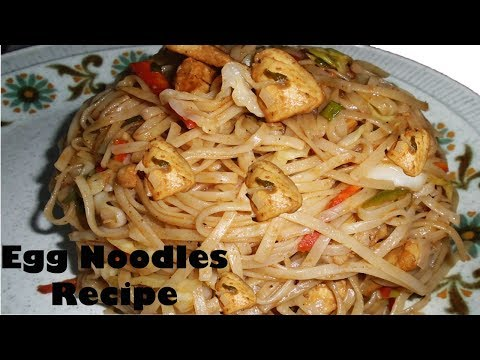 Stir-Fried Chinese Egg Noodles Recipe - Simple Chicken Recipe By Lotus Food Gallery