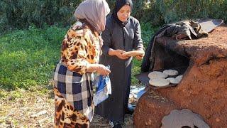 خبز الفرن التقليدي مع الأخت ليلى و لالة حادة و عروستها