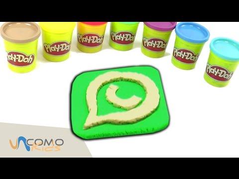 El simbolo de whatsapp en play doh