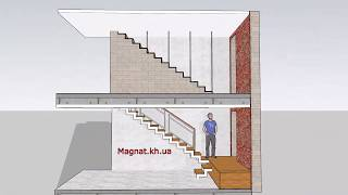Объект Меридиан эскиз лестницы