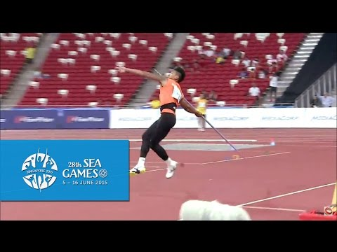 Athletics Men's Javelin Throw Finals  (Day 6 morning) | 28th SEA Games Singapore 2015