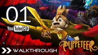 Puppeteer Walkthrough - Gameplay Part 1 (Stolen Away - Act 1 Curtain 1 - Weaver Boss) HD 1080p PS3