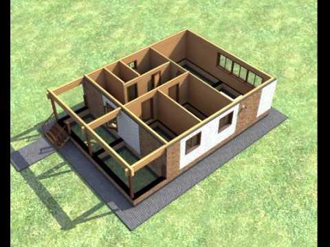 конструкция облицованного одноэтажного сруба