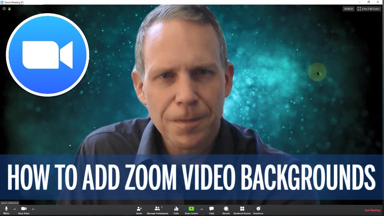Adding Zoom motion background videos - Fun for video conferencing or education!