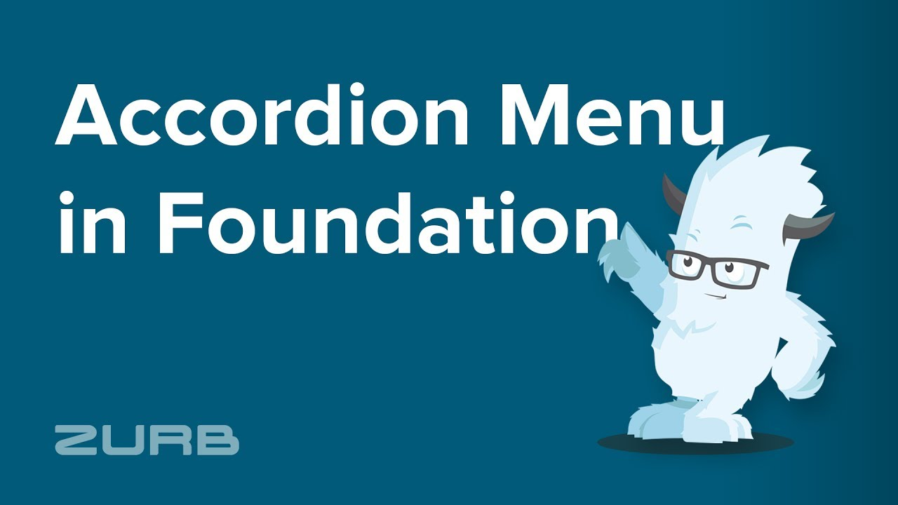 Accordion Menu | Foundation for Sites 6 Docs