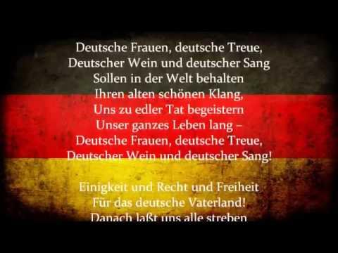 Die Deutsch Nationalhymne - alle strophen