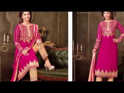 Latest Fashion In India Velvet Designer Suits Collection 2016~latest indian fashion collection