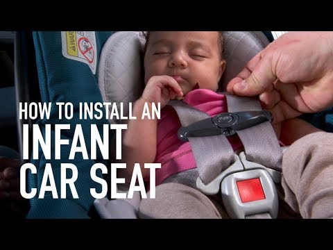 Infant car seat installation